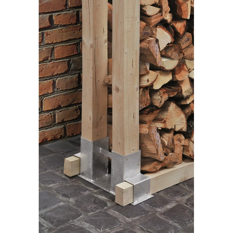 2er set brennholz stapelhilfe aus verzinktem stahl kaminholz feuerh. Black Bedroom Furniture Sets. Home Design Ideas