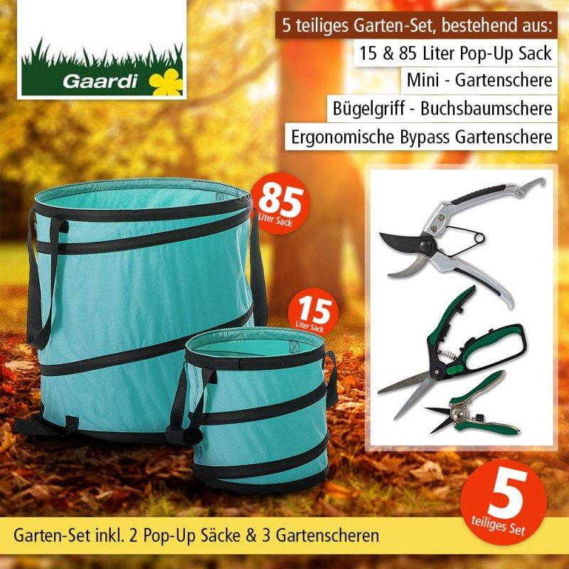 Abfallsack Laubsack 2er Set Pop-Up Sack Gartensack Spielzeugsack Wäschesack