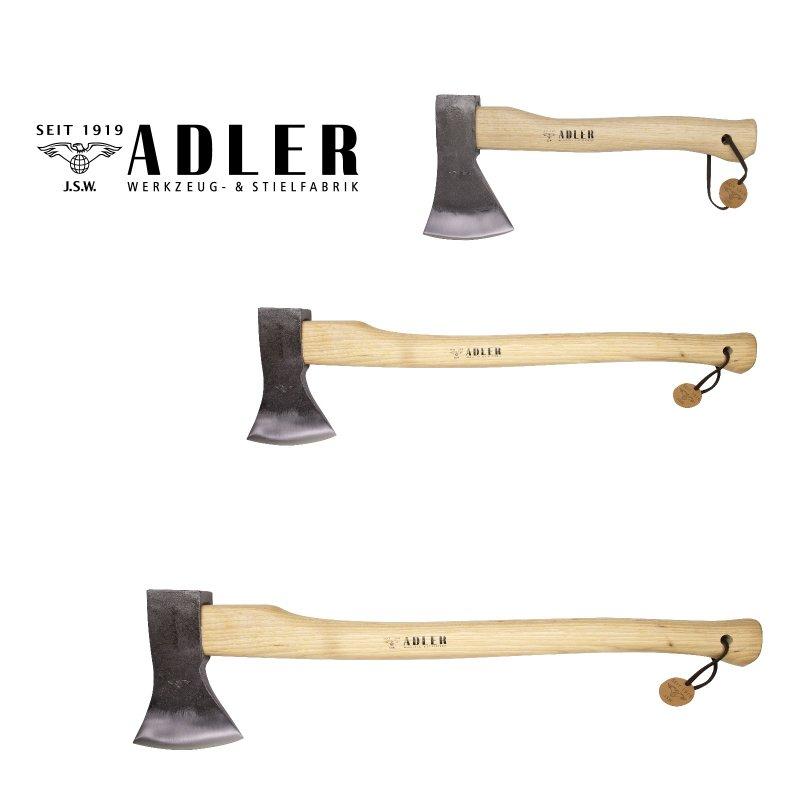 1600g jeweils mit Hickory Stiel Sparset 3 TLG Adler Profi Traditions Beil 800g /& Axt 1000g