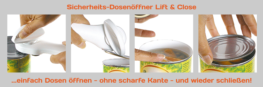 Sicherheits-Dosenöffner Lift & Close